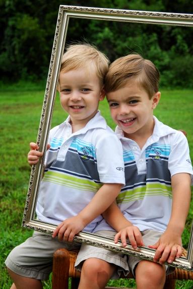 Soper boys with frame
