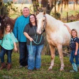 Stephenson family sin horses
