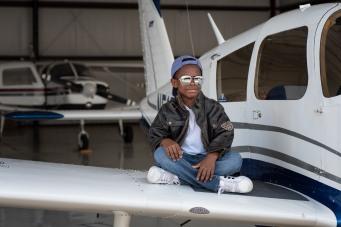 Jay in aviators