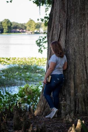 Iris by tree