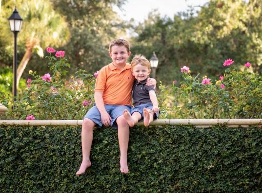 RiCharde Fairbanks boys at garden II